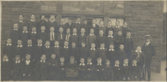 Blaina Central School, Std 5, 1915