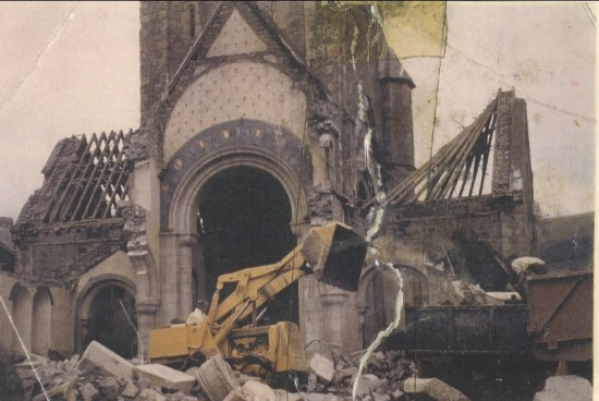 Demolition of St. Peter's church, 1973