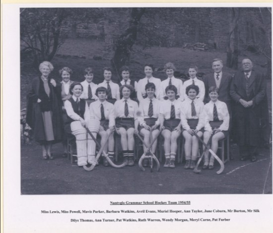 Nantyglo Grammar School (aka Hafod y Ddol) Hockey Team 1954 to 1955