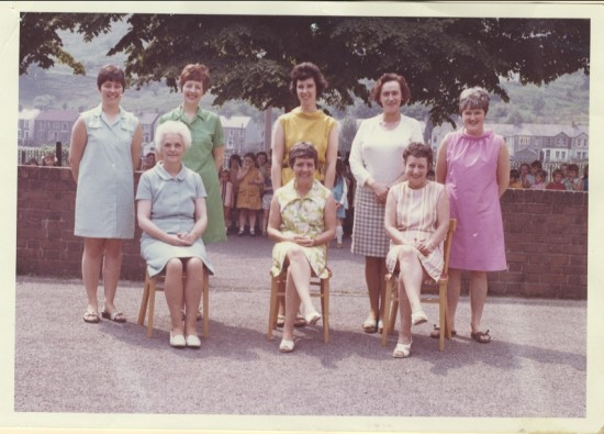 Blaina Infants School Staff, 1969 or 1970