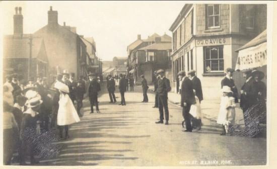 Blaina High Street before World War I