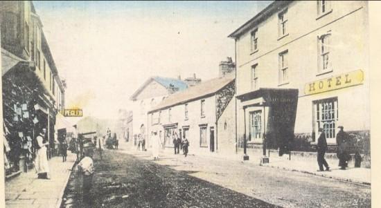 Blaina High Street circa 1910.