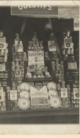 Meadow Dairy Ltd window display in the 1930s