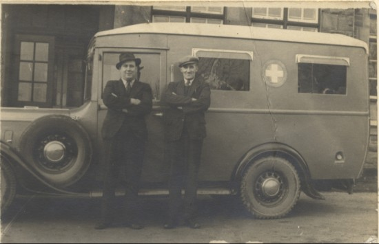 Ambulance used by Nantyglo and Blaina District Hospital, 1940s.