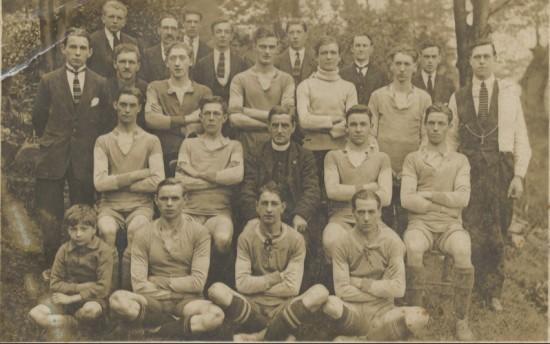 A Blaina Football team with Rev. Jacob Towns