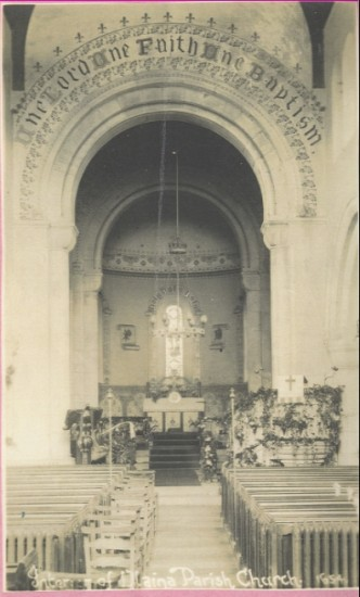Interior of St Peter's Church, Blaina
