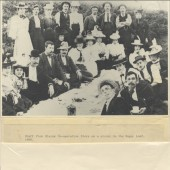 Staff from Blaina Cooperative Store on a picnic to the Sugar Loaf