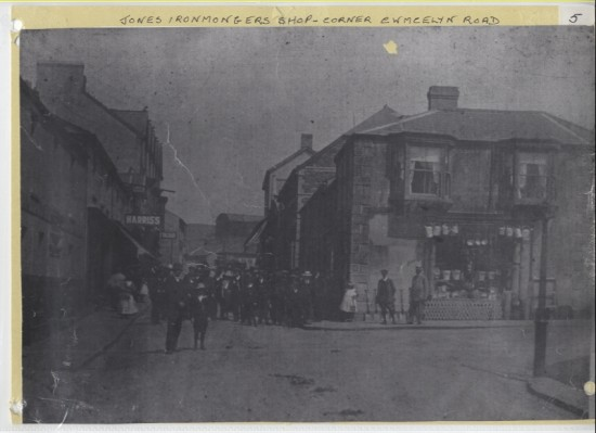 Jones Ironmongers Shop, corner of Cwmcelyn Road