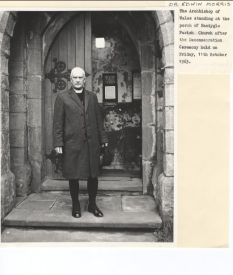 Edwin Morris, Archbishop of Wales at Holy Trinity Church, Nantyglo.