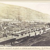 General View Blaina. Taken from Westside. Henwain Row , Demolished in mountain landslide. Also Henwain Pit.