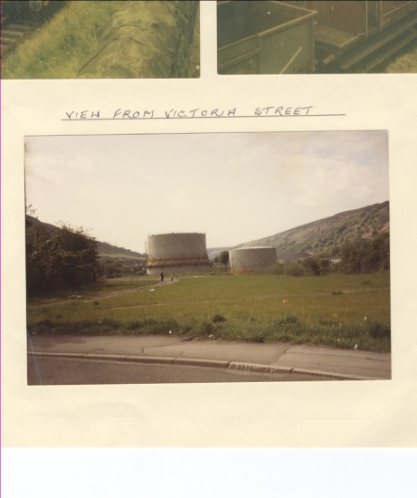 Blaina gas works (view from Victoria Street)