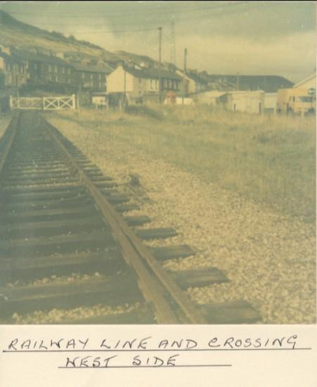 Blaina railway line and crossing (West Side)