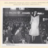 May Parry's fashion show at Blaina Institute.  Model is Margaret Norster