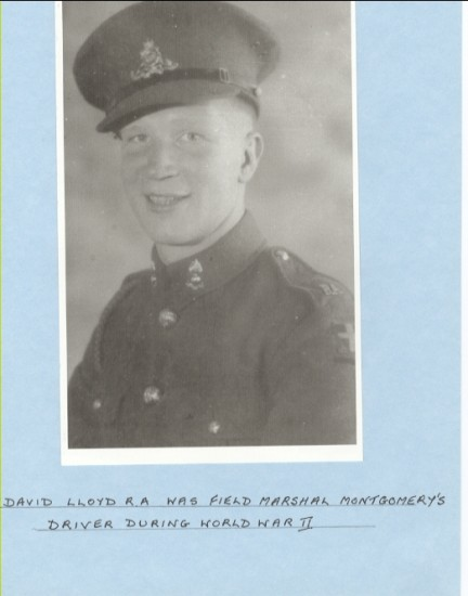David Lloyd R.A. was field marshall Montgomery's driver during World War II
