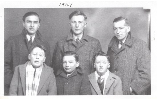 Bryn and Vernon sang with Blaina Girls Octette.  Dennis, John and Terry were in the Octette.  Cardiff, 15th February 1947