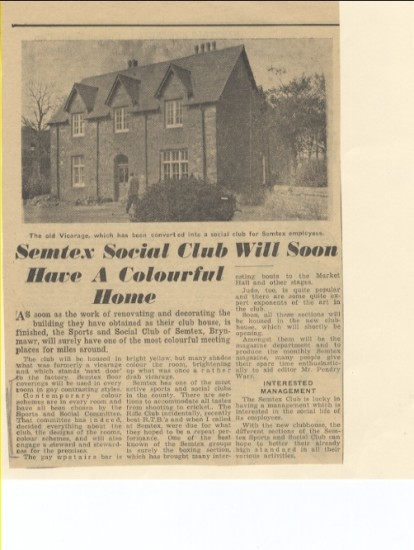 Merthyr Express, 5th March 1960; Semtex Social Club will soon have a colourful home