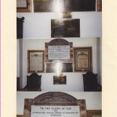 Memorial plaques at Ebenezer Chapel, Blaina.