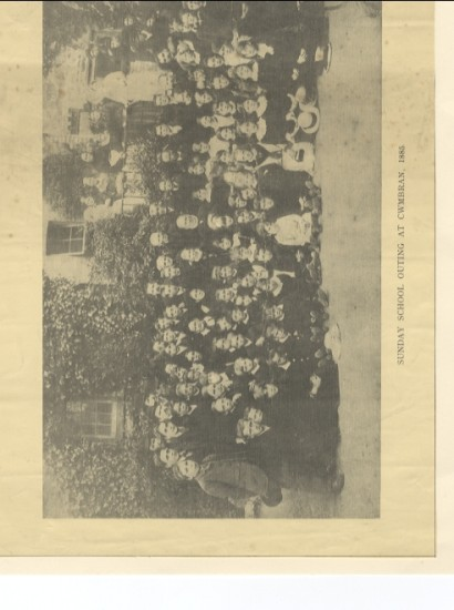 Sunday School outing at Cwmbran 1885
