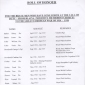 Roll of Honour WWI (1 of 2)