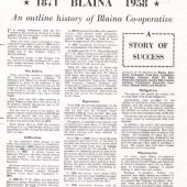An outline history of Blaina Cooperative 1871 to 1958