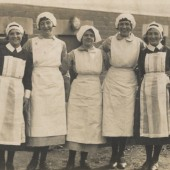 Florence Street (donor's auntie) is the first on the left.  She was working in a fever hospital in the 1930s.