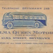 Alma Queen Motors business card