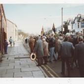 Rememberance Day memorial service, Alma Street, Brynmawr