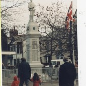 Rememberance Day memorial statue, Market Square, Brynmawr