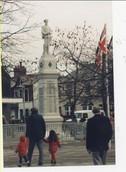 Rememberance Day memorial statue, Market Square, Brynmawr