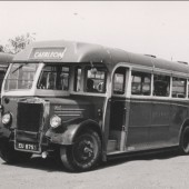 Former Griffin's bus in Red and White livery, early 1960s