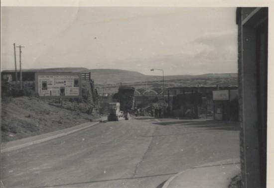 Demolition of the rialway bridge over Abertillery Road in the 1970s