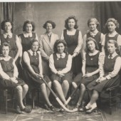Brynmawr County School Girls' Hockey Team, 1940s