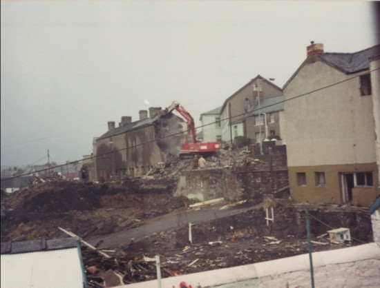 Demolition of Orchard Street Primitive Methodists Chapel, 1972 or 1973