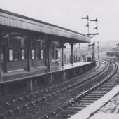The Abergavenny Platform on a damp day