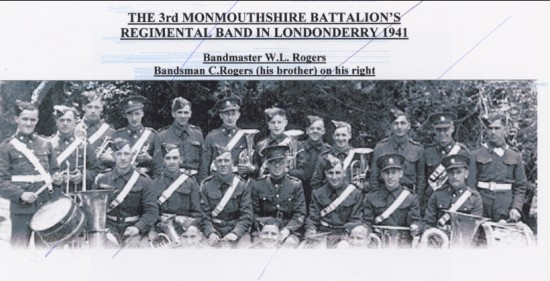 3rd Mon Regimental Band in Londonderry 1941