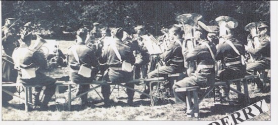 3rd,Mons Regimental Band giving a concert inLondonderry Park Ireland