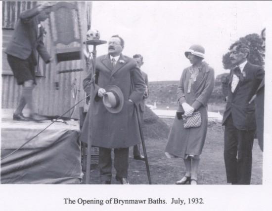 Brynmawr Baths opening July.1932