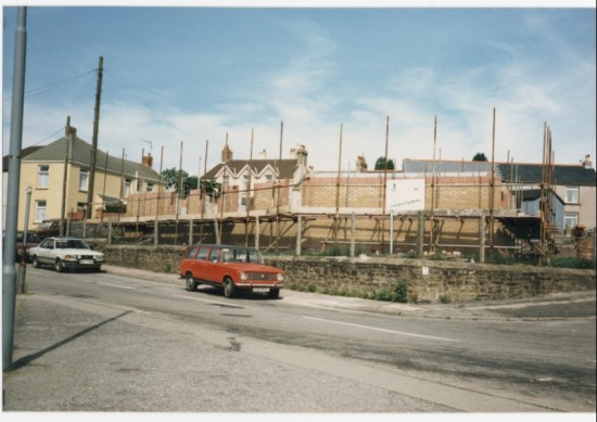 Costruction of  the new Ambulance Hall Brynmawr
