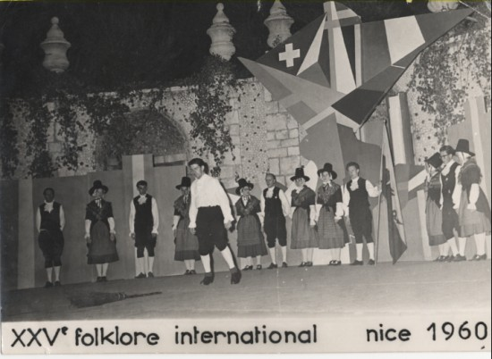 Brynmawr Welsh Folk Dancers in Nice(France) August,1960