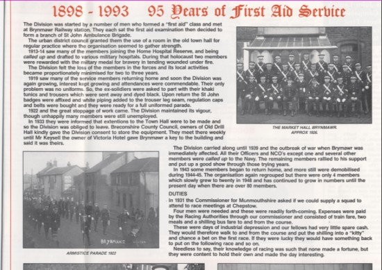 Priory News History of Brynmawr Division