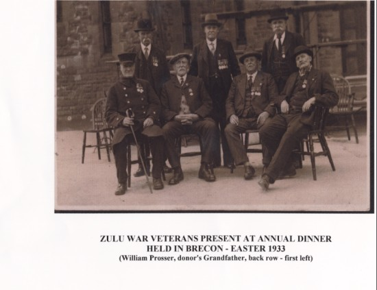 Zulu War Veterans Annual Dinner in Brecon Easter 1933