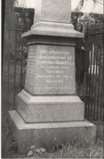 Crawshay Bailey's Tomb stone