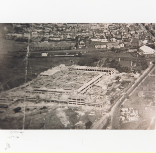 Aerial view of construction of Semtex