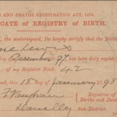 Certificate of Birth