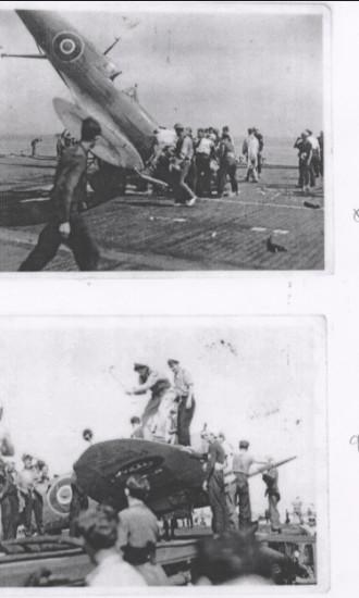 H.M.S Attacker (crash on deck)