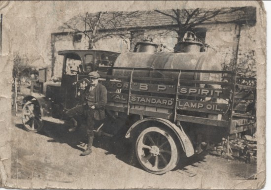 Ted.Williams with Old B.P Lorry 1927