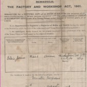 The factory and workshop Act 1901