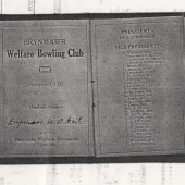 Brynmawr Bowling Club Season Ticket 1930
