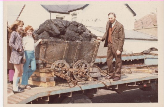 Dram of coal being taken to St. Fagans