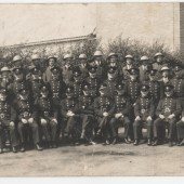 Brynmawr fire brigade and air raid wardens during World War 2